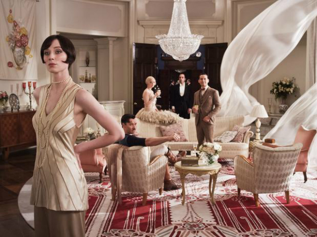 reparto Gran Gatsby, salón, lujo, decoración
