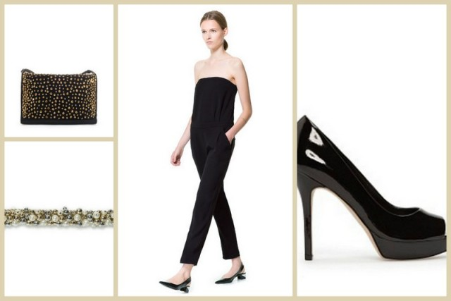 elegante, look total black