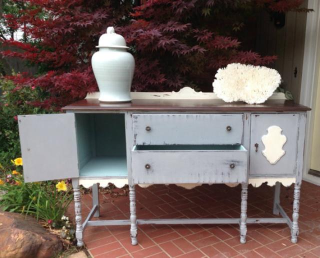 mobiliario de jardín, consola, muebles vintage