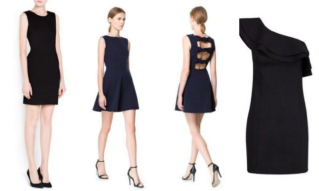vestidos cortos, vestidos negros, vestidos de coctail, vestidos otoño 2013