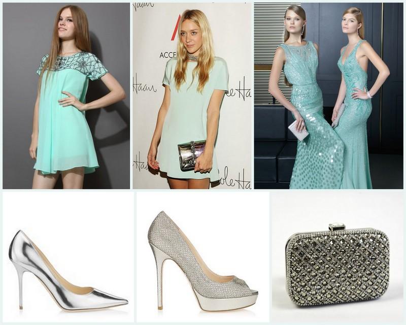 Zapatos para vestido azul turquesa corto