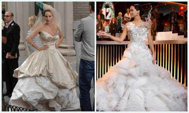 vestido de novia, bodas en television, boda de serie, bodas de pelicula, vestido novia volumen, vestido años 20, novias famosas, celebrities de boda